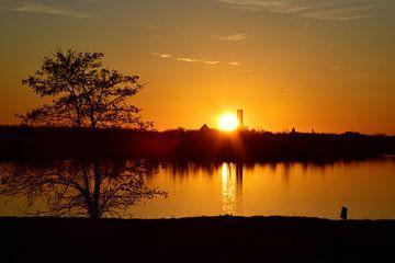 Sonnenuntergang Cospudener See von Marcel Ethner