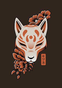 Kitsune Japanische Maske von Rene Hamann
