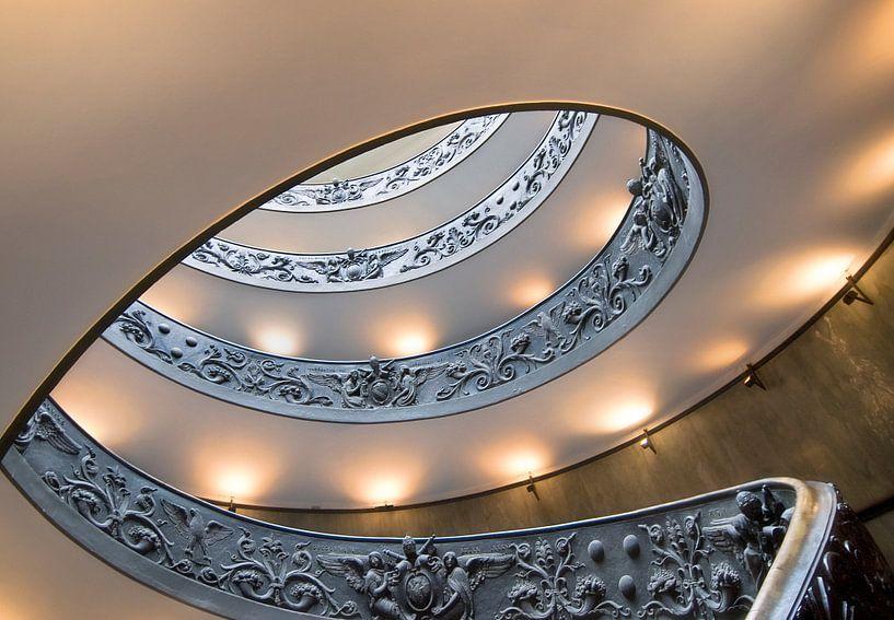 Spiraal trap Vaticaan van Marcel van Balken