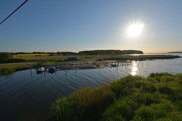 Wreecher See - monding van de Rügischer Bodden, Putbus op het eiland Rügen van GH Foto & Artdesign