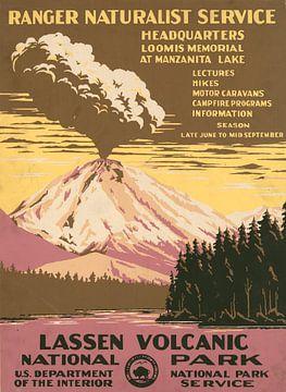 Vulkanischer Nationalpark Lassen, Ranger Naturalist Service von Vintage Afbeeldingen