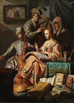 Rembrandt van Rijn. Musicerend gezelschap van