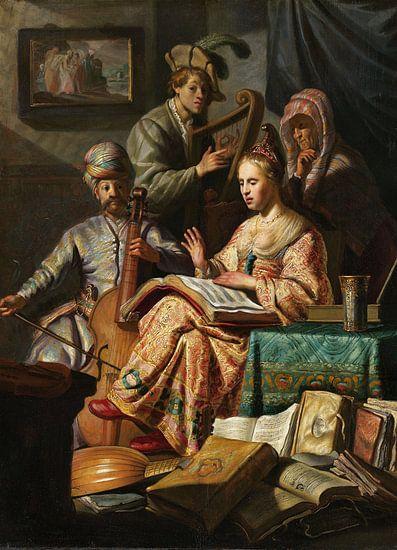 Rembrandt van Rijn. Musicerend gezelschap