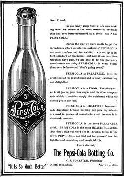 Publicité Pepsi Cola sur Natasja Tollenaar