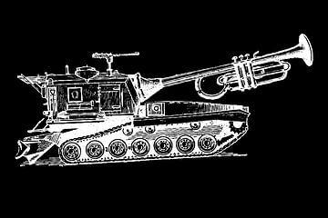Trumpet Tank - zwart/wit van Rembrandt Ross
