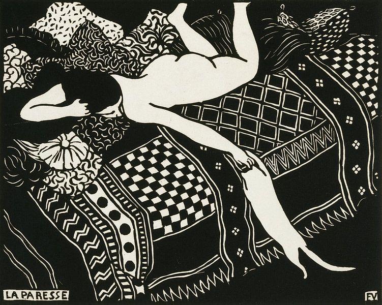 Luiheid (La paresse) van Prints in Paris