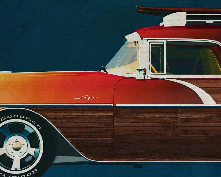 Pontiac Safari Station Wagon Surfer Edition 1956 van Jan Keteleer