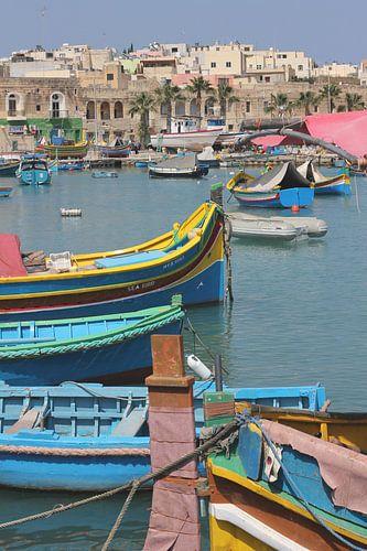 De haven van Marsaxlokk