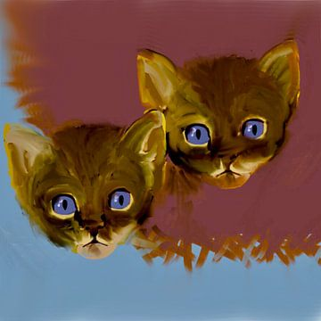 Katten. Twee van Raina Versluis