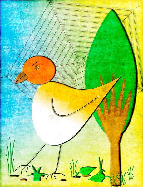 Bird and spider net van Rosi Lorz