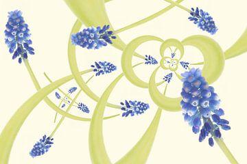 de joyeux raisins bleus au printemps sur Klaartje Majoor