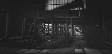 Zollverein-mijn - wielen voor steenkoolproductie van Off World Jack