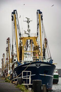 Fischereifahrzeuge im Hafen von IJmuiden. von scheepskijkerhavenfotografie