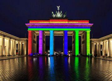 Brandenburger Tor en Pariser Platz in Berlijn in een bijzonder licht