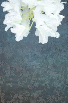 Ophelia #4 (De vijver) (versie met bloem boven) van Remke Spijkers
