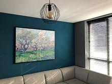 Klantfoto: Boomgaard in Bloesem, Vincent van Gogh, op canvas