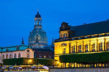 Die Frauenkirche in Dresden bei Nacht von Rico Ködder