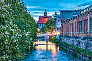 Uitzicht vanaf de bierbrug in Chemnitz