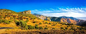 Het Rifgebergte in Marokko, panorama van
