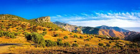 Het Rifgebergte in Marokko, panorama