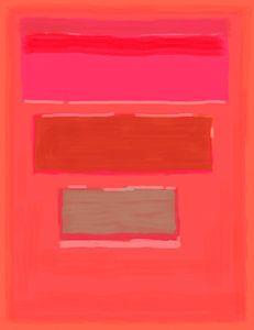 Abstract schilderij in roodtinten van