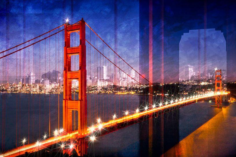 City Art Golden Gate Bridge Composing van Melanie Viola