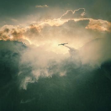 Blusvliegtuig van Jefra Creations