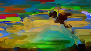 Dog Sunrise van Judith Robben
