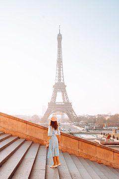 Paris, une belle vue sur la Tour Eiffel sur Dymphe Mensink