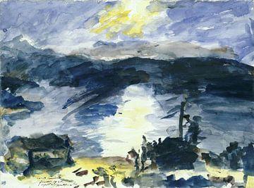 Lovis Corinth, Landschap rond Walchensee - 1925 van Atelier Liesjes