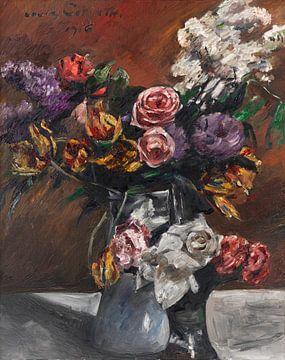 Rosen, Tulpen und Flieder, Stillleben, LOVIS CORINTH, 1916 von Atelier Liesjes