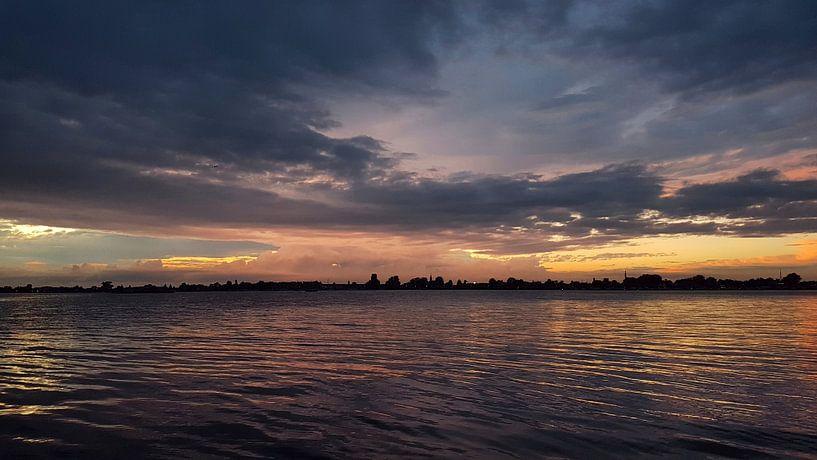 Magische zonsondergang Loosdrecht van Danielle Bosschaart