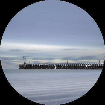 Nieuwpoort - pier - Long exposure  van Ingrid Van Damme fotografie