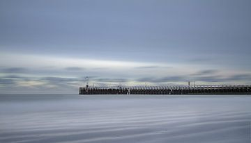 Une longue exposition au Newport Pier sur Ingrid Van Damme fotografie