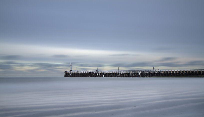 Nieuwpoort - pier - Long exposure  van Vandain Fotografie