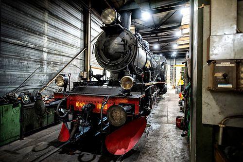 oude stoom trein