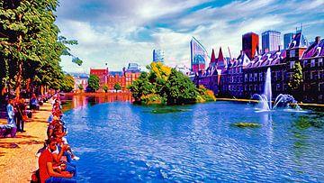 Hofvijver Den Haag von Digital Art Nederland