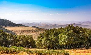 Panorama van het Rifgebergte. Marokko van