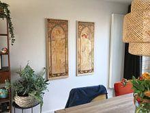 Photo de nos clients: Tijden van de Dag: Dag Helderheid - Art Nouveau Schilderij Mucha Jugendstil sur Alphonse Mucha