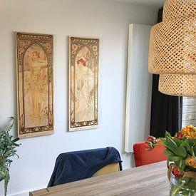Kundenfoto: Tijden van de Dag: Dag Helderheid - Art Nouveau Schilderij Mucha Jugendstil von Alphonse Mucha