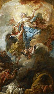 Studie zur Himmelfahrt der Jungfrau Maria, Jean-Baptiste Deshays, 1758 von Atelier Liesjes
