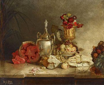 Stilleben von Frucht und Urne, Theodore Clement Steele