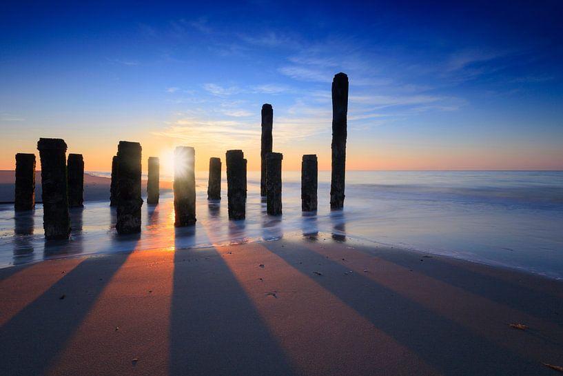 zonsondergang aan de kust van Zeeland van gaps photography