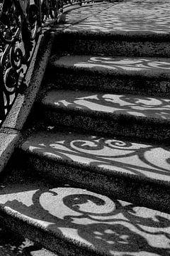 Steintreppe mit gelockten Schatten von Anne Ponsen