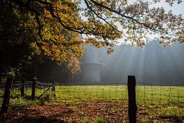 Mühle im Nebel von Suzanne Schoepe