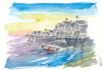 Nantucket nautische und erstaunliche Uferpromenade von Markus Bleichner