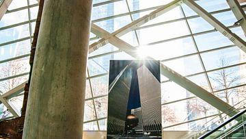 Foto voormalig WTC in het Memorial Centre sur Annelies Martinot