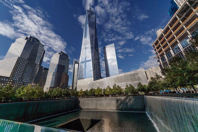 New York  One World Trade Center mit Gedenkstätte van Kurt Krause