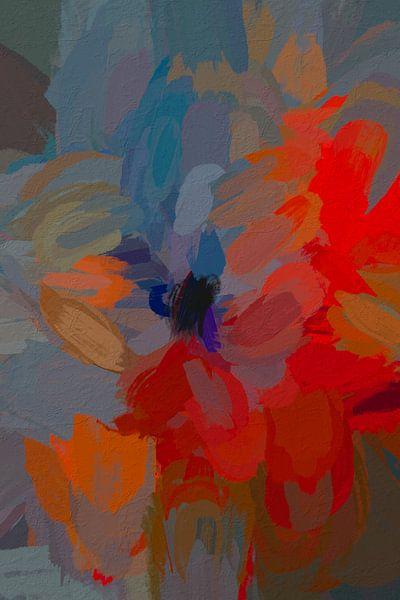 Abstracte rozen van Leo Luijten
