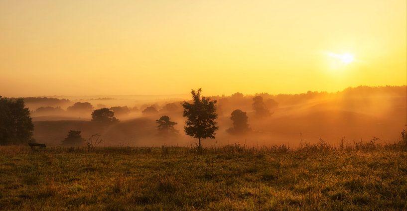 Zonsopkomst boven de Brunssummerheide in Zuid-Limburg van John Kreukniet